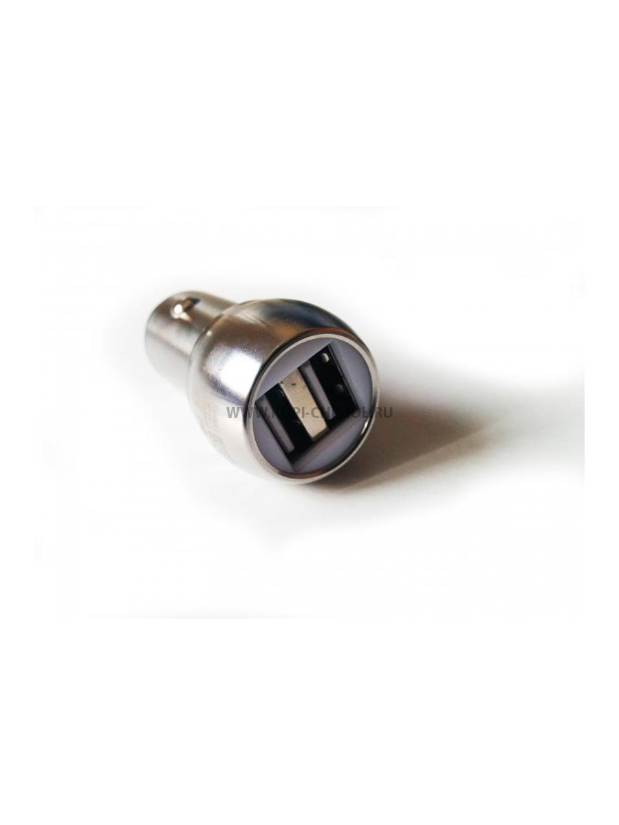 Автомобильные зарядные устройства REMAX Автомобильный адаптер 2.4A 2 USB Remax RCC - 205 Silver - фото 11