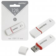 Флеш Smartbuy Crown 128Gb White USB 2.0