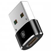 Переходник OTG с TypeC (F) на USB Baseus CAAOTG-01 Black