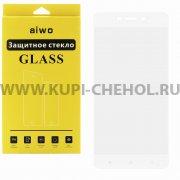Защитное стекло Xiaomi Redmi 4 Pro Aiwo Full Screen белое 0.33mm