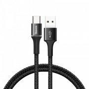 Кабель USB-Type-C Baseus Halo CATGH-A01 Black 0.5m 3A