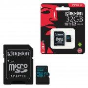 Micro SD 32Gb Class 10 к/п Kingston UHS-I U3 Canvas Go V30 90Mb/s+адаптер