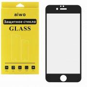 Защитное стекло Apple iPhone 6/6S Aiwo Full Screen Cover черное матовое 0.33mm