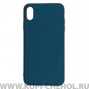 Чехол-накладка iPhone XS Max Kajsa Military Straps Blue