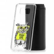 Чехол-накладка Samsung Galaxy S8 Plus Kruche Сова в очках