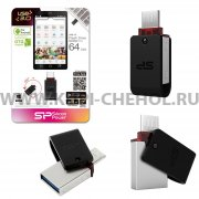 Флеш Silicon Mobile X31 OTG 64GB Black