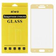 Защитное стекло Samsung Galaxy A5 (2016) A510 Aiwo Full Screen золотое 0.33mm