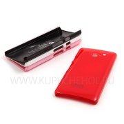 Чехол пластиковый Huawei Ascend D2 SGP 2448 красный