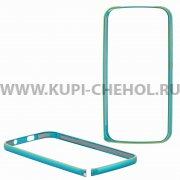 Чехол-бампер Fly IQ4410 Quad Phoenix металл голубой