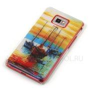 Чехол пластиковый Samsung Galaxy S2 i9100 Живопись 7833