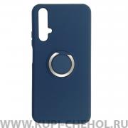 Чехол-накладка Huawei Honor 20/Nova 5T 7003 с кольцом-держателем темно-синий