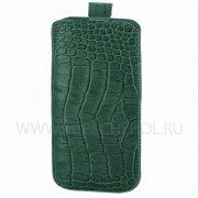 Чехол с внутренним языком Apple iPhone 6/6S Deluxe зелёный крокодил