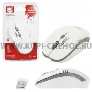 Мышка компьютерная б/п с зарядкой от USB SmartBuy ONE 344CA White Grey