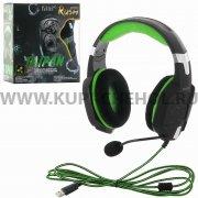 Игровая гарнитура SmartBuy Rush Taipan SBHG-3100 черно - зеленая