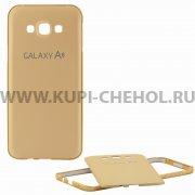 Чехол-накладка Samsung Galaxy A8 A800f 9077 золотой