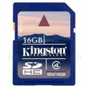 SD 16Gb class 4 к/п Kingston