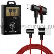 USB Apple iPhone 5 Baseus CALTX-01 Black+Red 1м