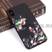 Чехол-накладка iPhone X Цветы 10072