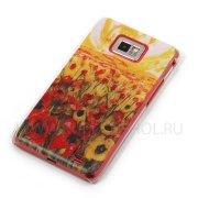 Чехол пластиковый Samsung Galaxy S2 i9100 Живопись 7836