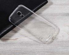 Чехол-накладка Samsung Galaxy S4 mini i9190 прозрачный глянцевый 1mm