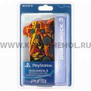 Джойстик Sony Dualshock 3 красно - желтый
