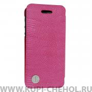 Чехол-книжка Apple iPhone 5/5S/SE RADA A047 розовая кожа