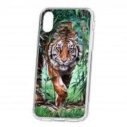 Чехол накладка для телефона iP X Kruche Print Крадущийся тигр