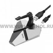 ХАБ USB-разветвитель 3 порта Hoco HB2 Scorpio Silver