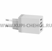 Сетевой адаптер 4USB 3.4A Hoco C23B White