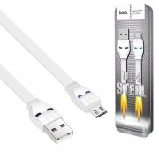 Кабель USB-Micro Hoco U14 Steel Man White 1.2м