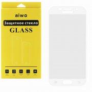 Защитное стекло Samsung Galaxy A5 (2017) A520i Aiwo Full Screen белое 0.33mm