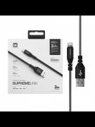 Кабель USB-iP Amazingthing SupremeLink MFi  Black 3m 3A УЦЕНЕН