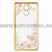 Чехол-накладка Xiaomi Redmi 4 Pro Hallsen Shine прозрачный с золотыми краями _1