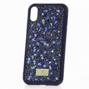 Чехол-накладка iPhone XS Max Swarovski Камешки Blue