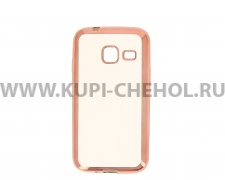 Чехол-накладка Samsung Galaxy J1 mini Hallsen прозрачный с красными краями без логотипа