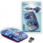 Мышка компьютерная б/п SmartBuy 327AG принт Love