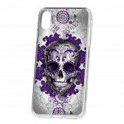 Чехол-накладка iPhone XS Max Kruche Print Sugar Skull
