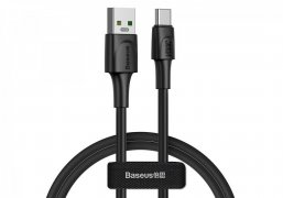 Кабель USB-Type-C Baseus White Quick Charging Black 1m 5A УЦЕНЕН