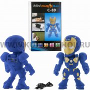 Колонка универсальная Железный человек C - 89 2410 синяя