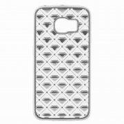 Чехол силиконовый Samsung Galaxy S6 Edge G925 9437 серебристый