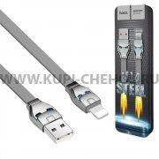 USB Apple iPhone 5 Hoco U14 Steel Man Gray 1.2m