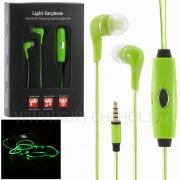 Наушники LED 8753 с микрофоном зелёные