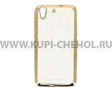 Чехол-накладка Huawei Y6 II Hallsen прозрачный с золотыми краями без логотипа