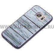 Чехол-накладка Samsung Galaxy S7 9197 дерево