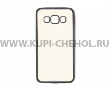 Чехол-накладка Samsung Galaxy A3 A300f Hallsen прозрачный с черными краями без логотипа