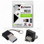 ФЛЕШ KINGSTON DTDUO3 16Gb OTG (USB/MicroUSB)