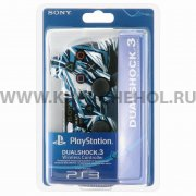 Джойстик Sony Dualshock 3 графити бело - голубой