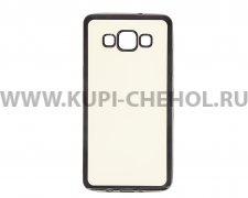 Чехол-накладка Samsung Galaxy A5 A500f Hallsen прозрачный с черными краями без логотипа