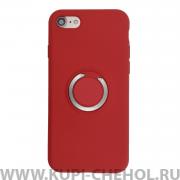 Чехол-накладка Apple iPhone 7/8 7003 с кольцом-держателем красный