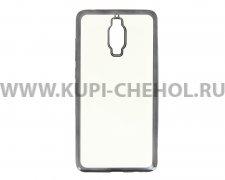 Чехол силиконовый Huawei Mate 9 Pro Hallsen прозрачный с черными краями без логотипа